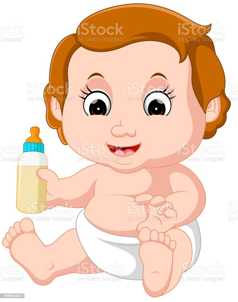 baby cartoon vector art illustration