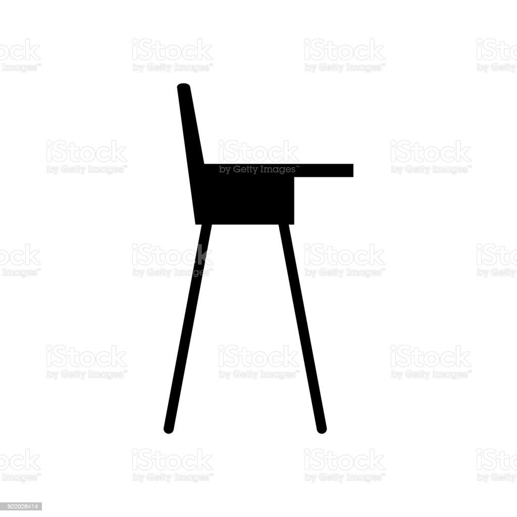 Baby Chair Icon Vector Illustration Stock Illustration Download