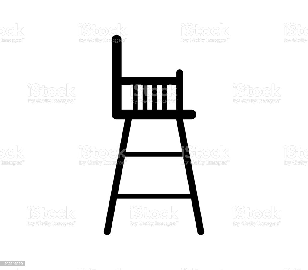baby chair vector art illustration  sc 1 st  iStock & Royalty Free High Chair Clip Art Vector Images u0026 Illustrations - iStock