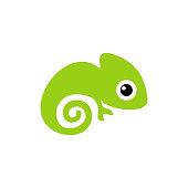 baby chameleon cartoon clip art icon vector