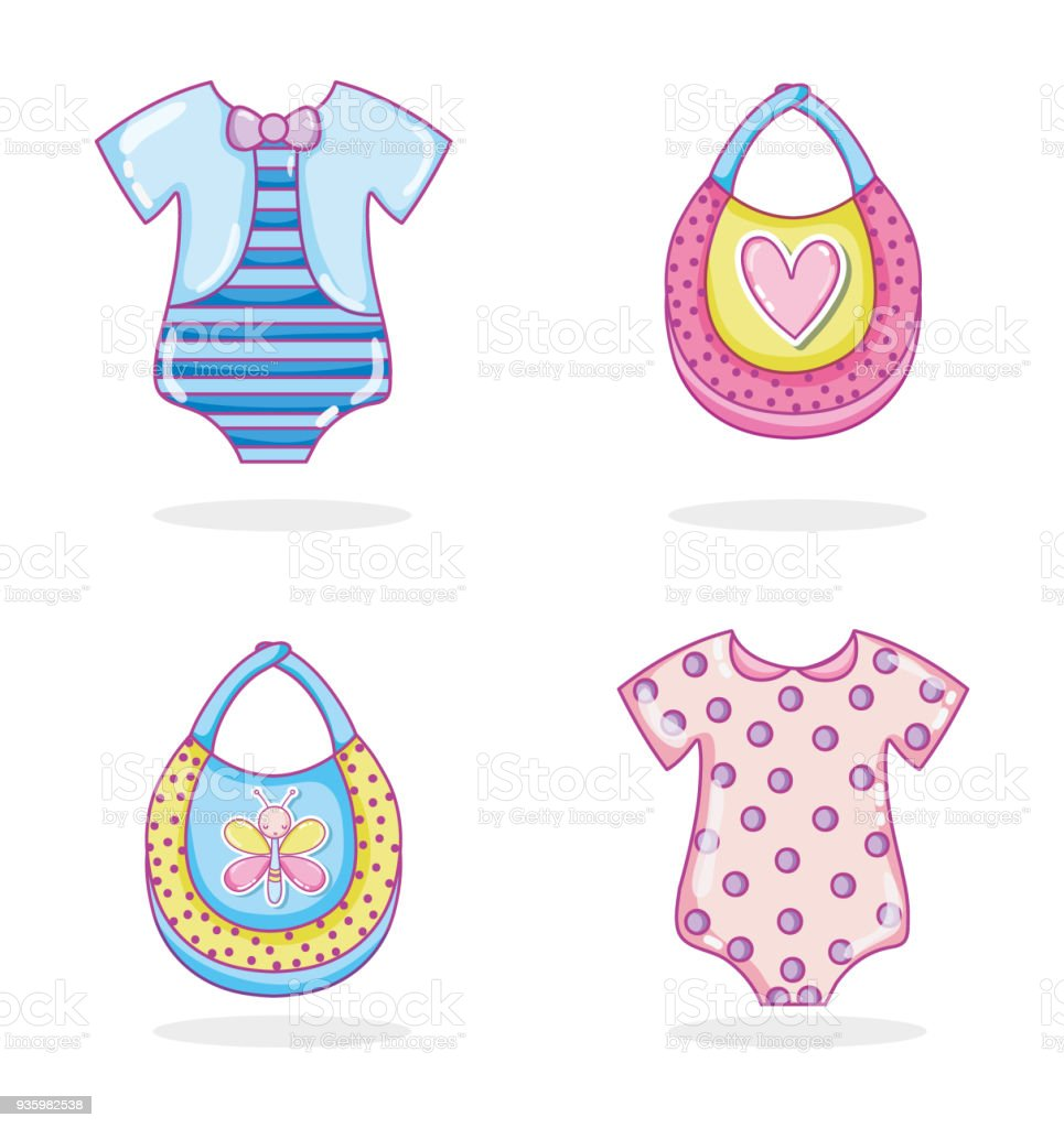 Baby Clothes Collection Stock Vector Art More Images Of Album