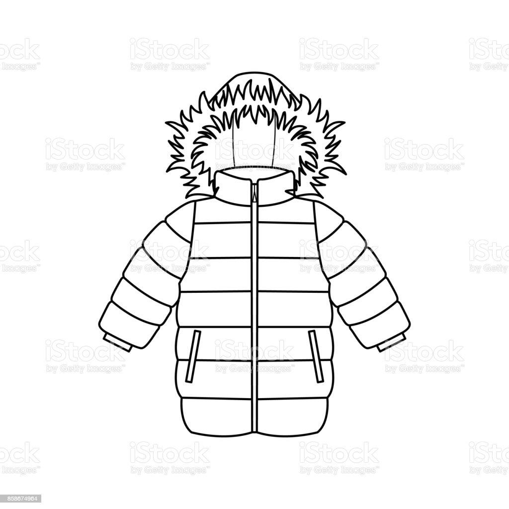 royalty free padded jacket clip art vector images