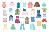 Baby clothes set. Clothing for girls and boys.