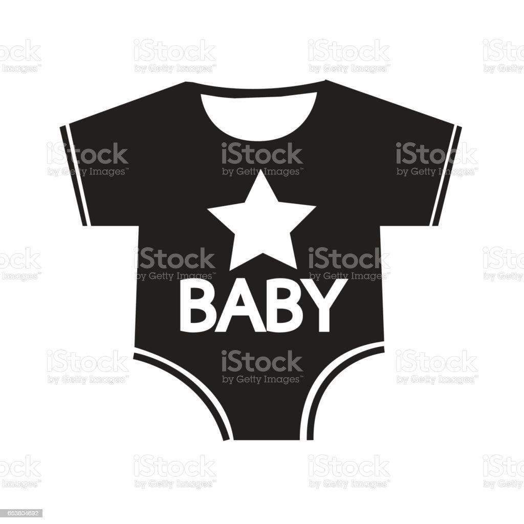 reputable site 9eaa5 e8509 Baby Kleidung Symbol Abbildung Schild Entwerfen Stock Vektor ...