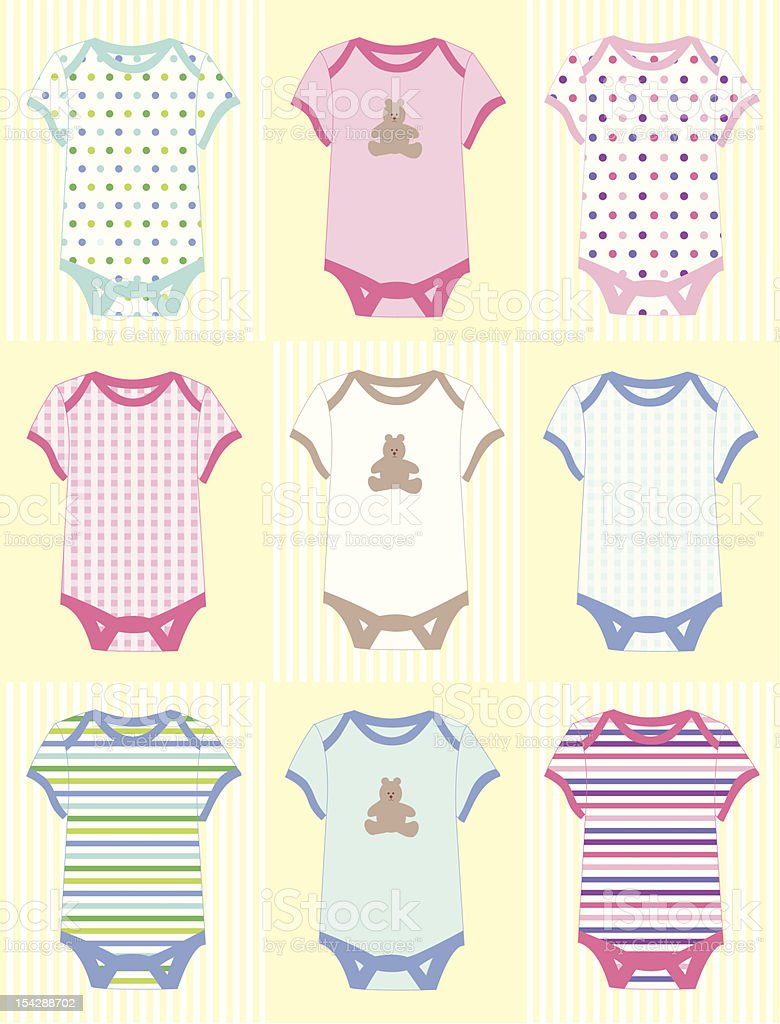 Baby Clothing vector art illustration