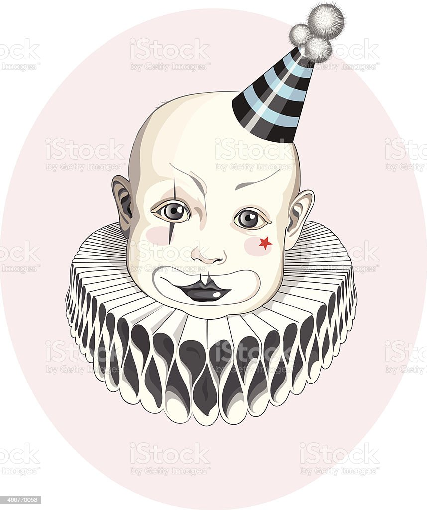 Baby clown in the stripy hat