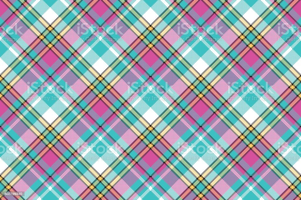 Ilustración de Color De Bebé Compruebe Tela Pixel Textura De ...