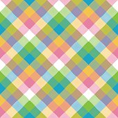 Baby color pixel plaid seamless pattern