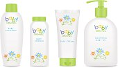 Baby cosmetic tubes with kids design. Vector