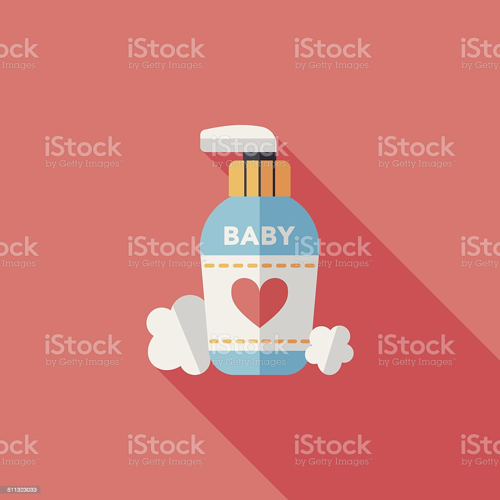 baby cosmetics flat icon with long shadow,eps10 baby cosmetics flat icon with long shadow,eps10 Alternative Therapy stock vector
