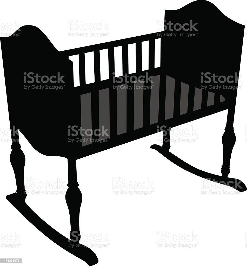 Ilustración de De Cunas De Bebé De Silhouette y más banco de ...