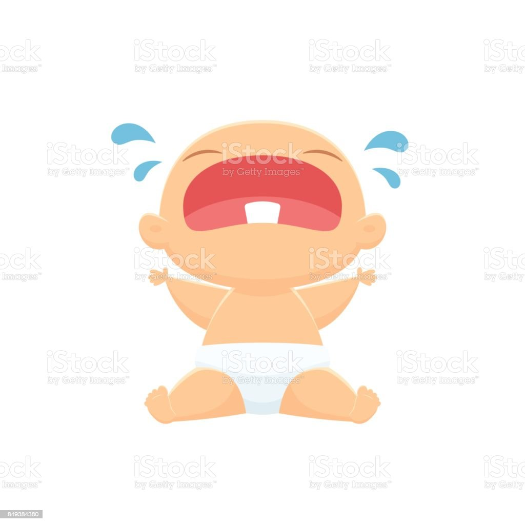 royalty free crying baby clip art vector images illustrations rh istockphoto com baby crying clip art sound baby boy crying clipart