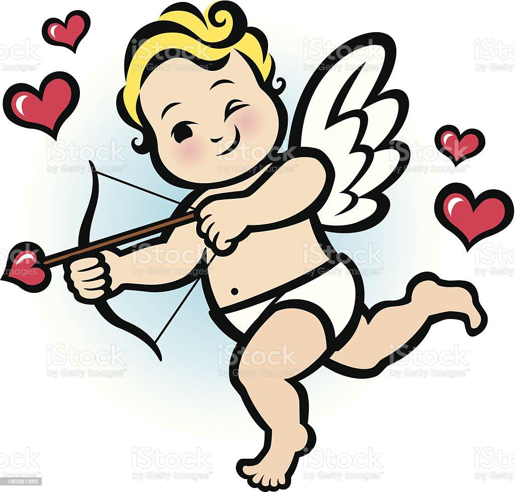 Baby Cupid royalty-free stock vector art