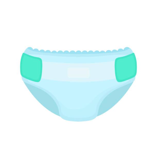 Baby diaper. Vector flat cartoon vector art illustration