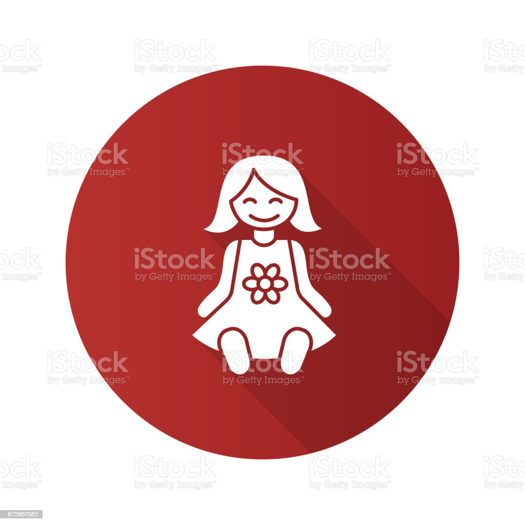 Baby doll icon vector art illustration