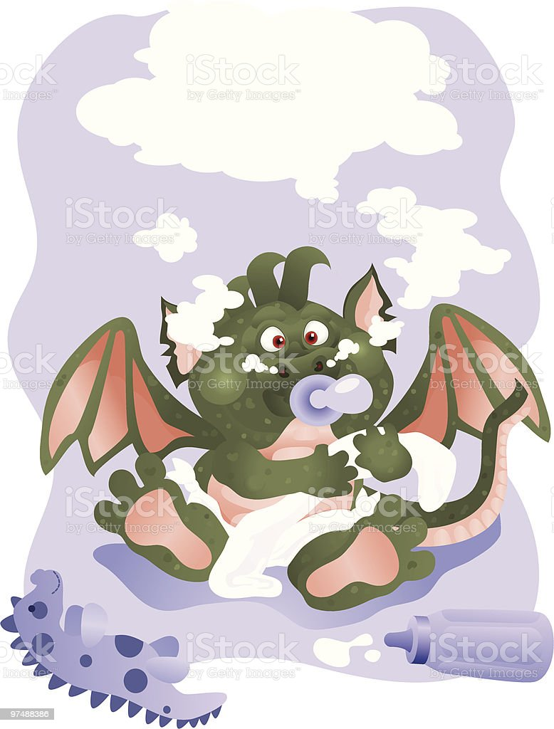 Baby Dragon royalty-free baby dragon stock vector art & more images of animal