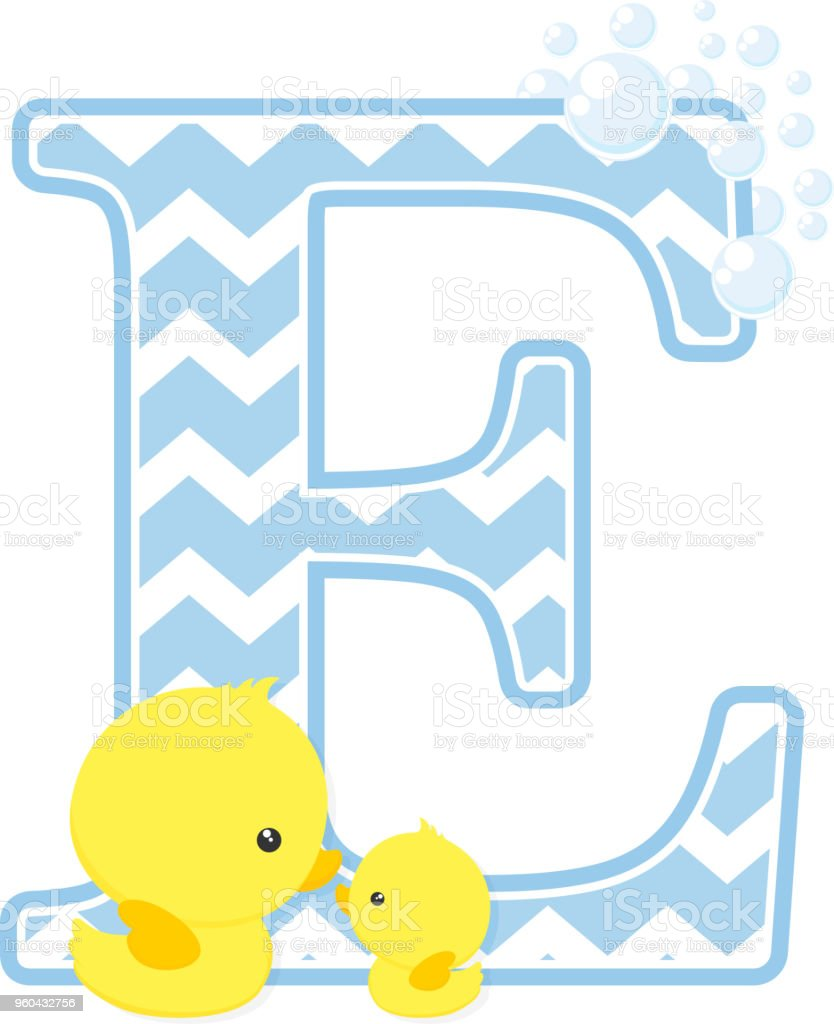 Baby Duck Initial E Stock Illustration Download Image Now Istock