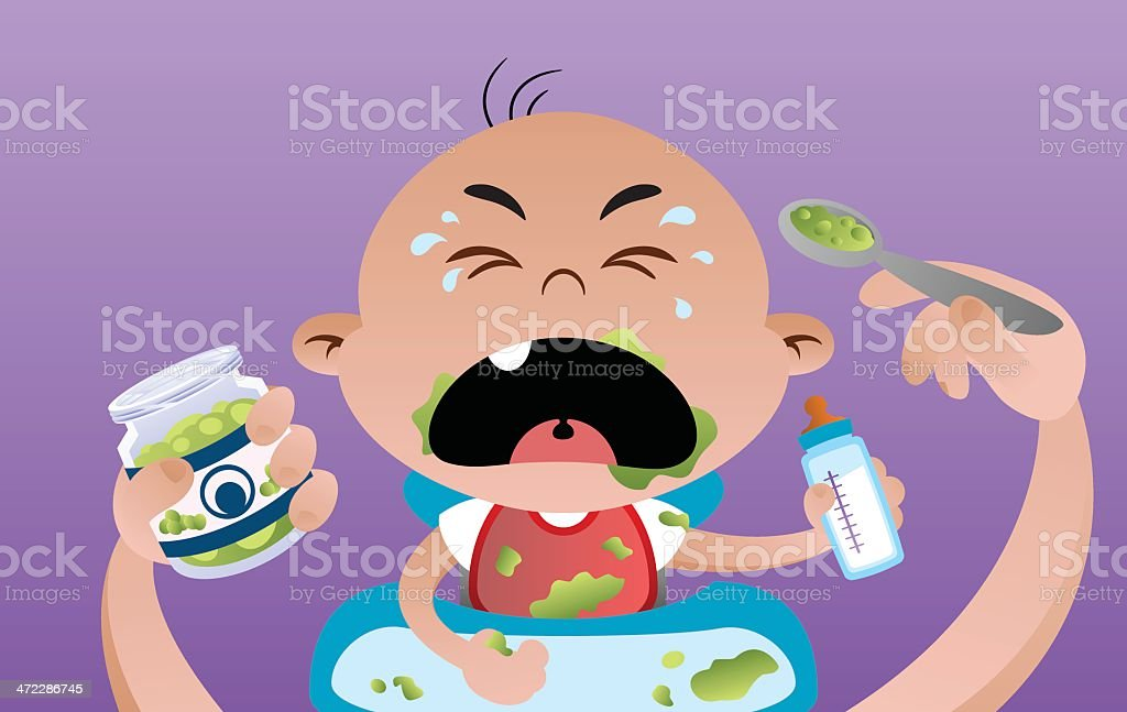 Baby Eats royalty-free baby eats stock vector art & more images of baby