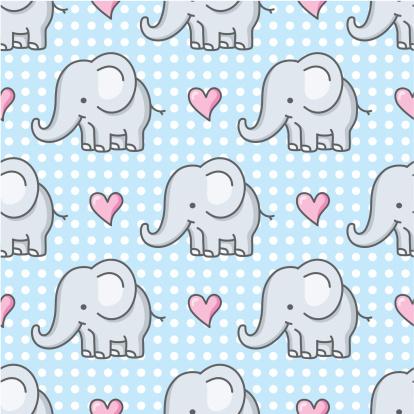 baby elephant seamless pattern / cartoon