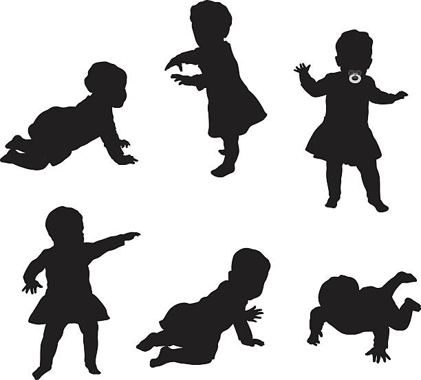 baby elle - maluch stock illustrations