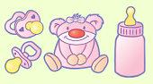 baby equipment: pink