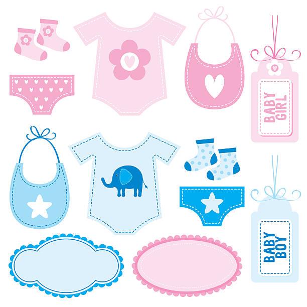 baby-ausstattung - bodysuit stock-grafiken, -clipart, -cartoons und -symbole