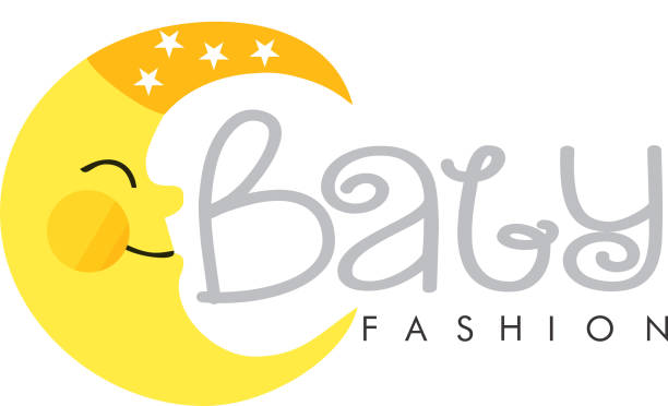 Baby Fashion logo vector art illustration