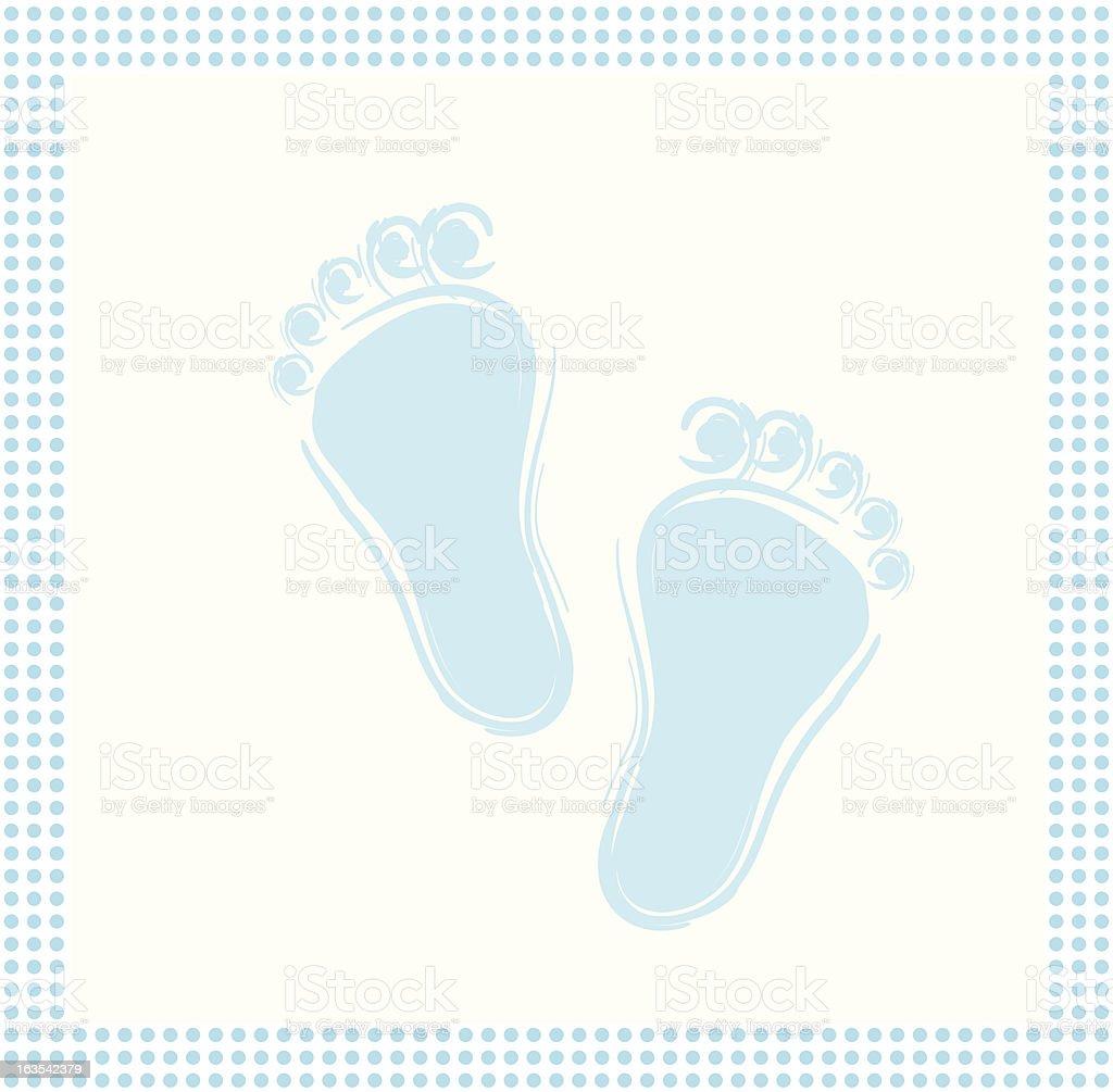 Baby feet Blue royalty-free stock vector art