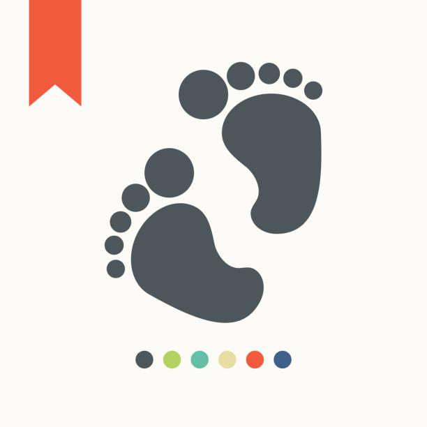 Baby feet icon vector art illustration
