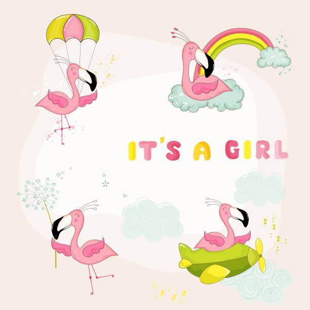 Royalty Free Baby Flamingo Clip Art, Vector Images ...