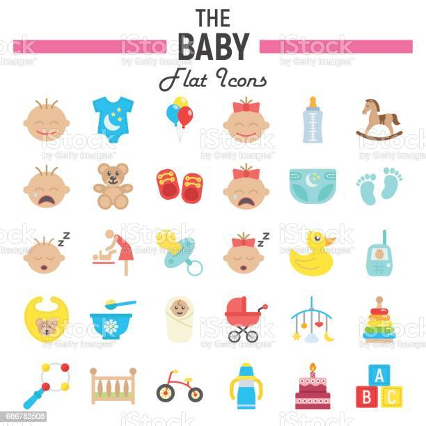 Baby flat icon set kid symbols collection vector sketches logo vector id686783508?b=1&k=6&m=686783508&s=612x612&h=lxl7ghaxu2dj ryb8rp7rk95fp7i7zstf0nvolipdre=
