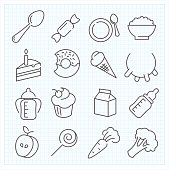 Baby food icons
