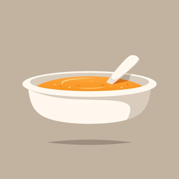 赤ちゃん食品お粥ベクトル分離 - ベビーフード点のイラスト素材/クリップアート素材/マンガ素材/アイコン素材