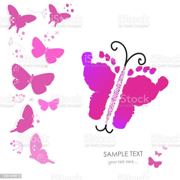 Baby foot prints and butterfly greeting card background vector id1032539510?b=1&k=6&m=1032539510&s=612x612&h=pnza038z 1qrlkcd2ivuoyh52yn7dm5uv2 j7ua9kvw=