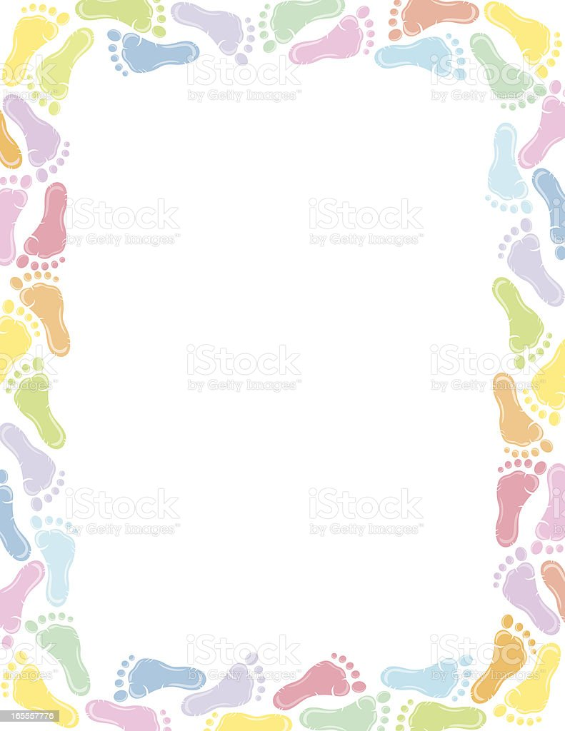 baby footprint border stock vector art amp more images of