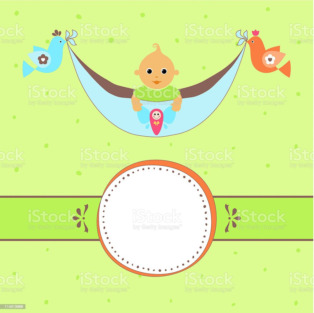 Baby Frame Green royalty-free stock vector art