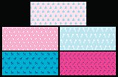 """Five Graphic Illustration of Baby - Gift Wrapping Paper Patterns, Background. Check out my """"Family Matters"""" light box for more."""
