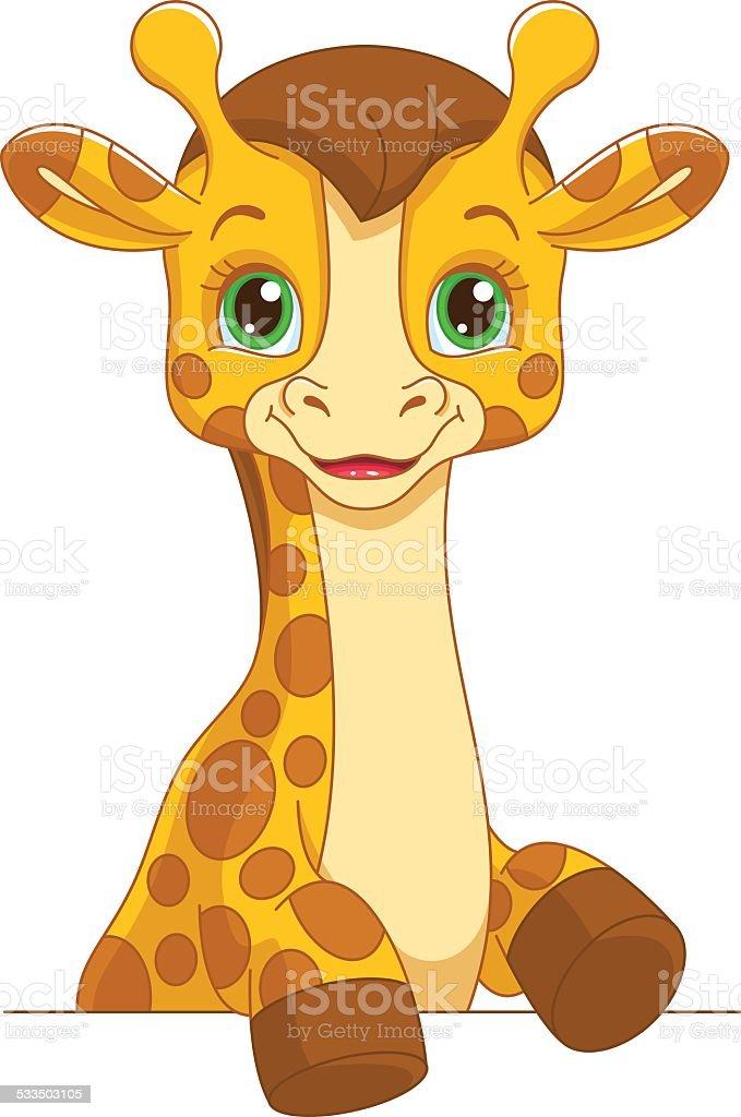 royalty free baby giraffe clip art vector images illustrations rh istockphoto com baby giraffe cartoon clip art baby giraffe cartoon clip art
