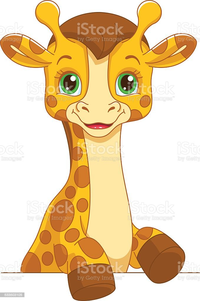 royalty free baby giraffe clip art vector images illustrations rh istockphoto com baby giraffe clipart black and white baby giraffe clipart black and white