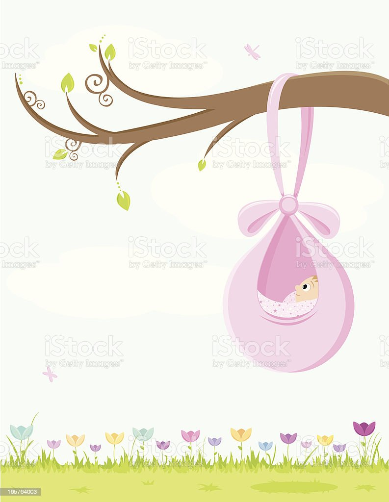 Baby Girl Background with Room for Your Text! royalty-free baby girl background with room for your text stock vector art & more images of advertisement