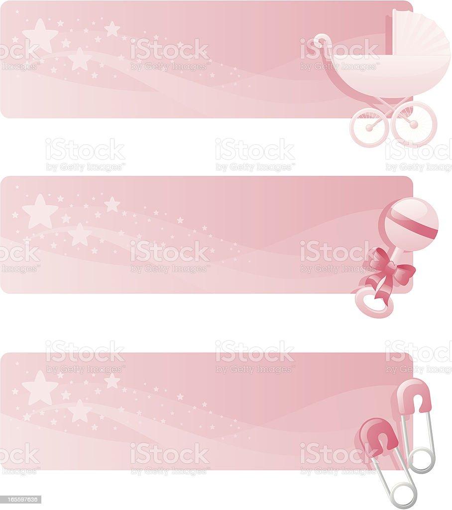 Bebê Menina Banners ilustração de bebê menina banners e mais banco de imagens de abstrato royalty-free