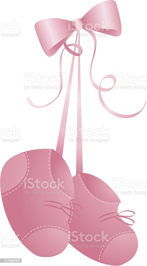 Baby Girl Booties Stock Illustration Download Image Now Istock
