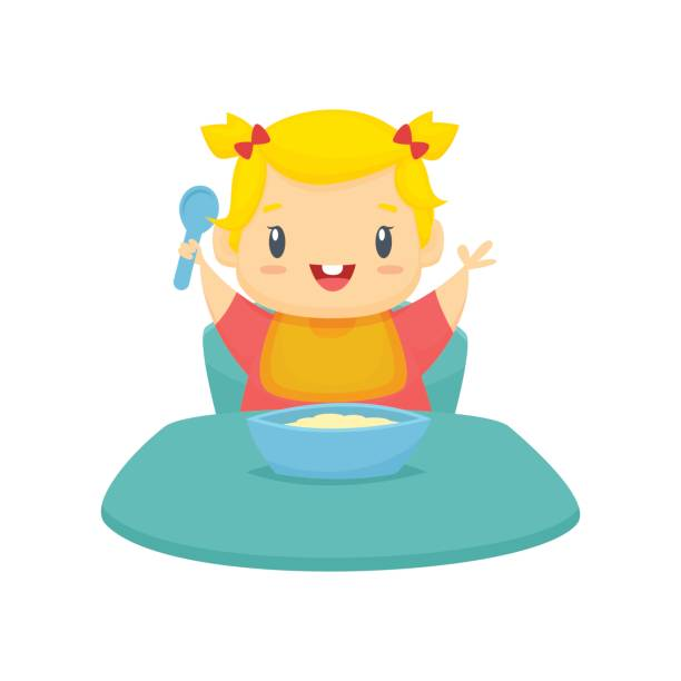 Best Toddler Eating Illustrations, Royalty-Free Vector ...