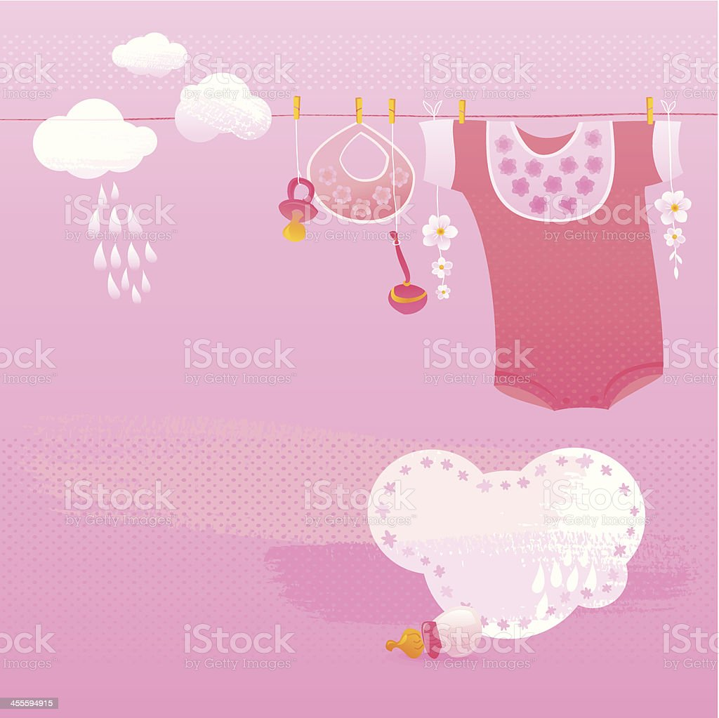 Baby girl greeting card stock vector art more images of baby girl greeting card royalty free baby girl greeting card stock vector art amp kristyandbryce Images