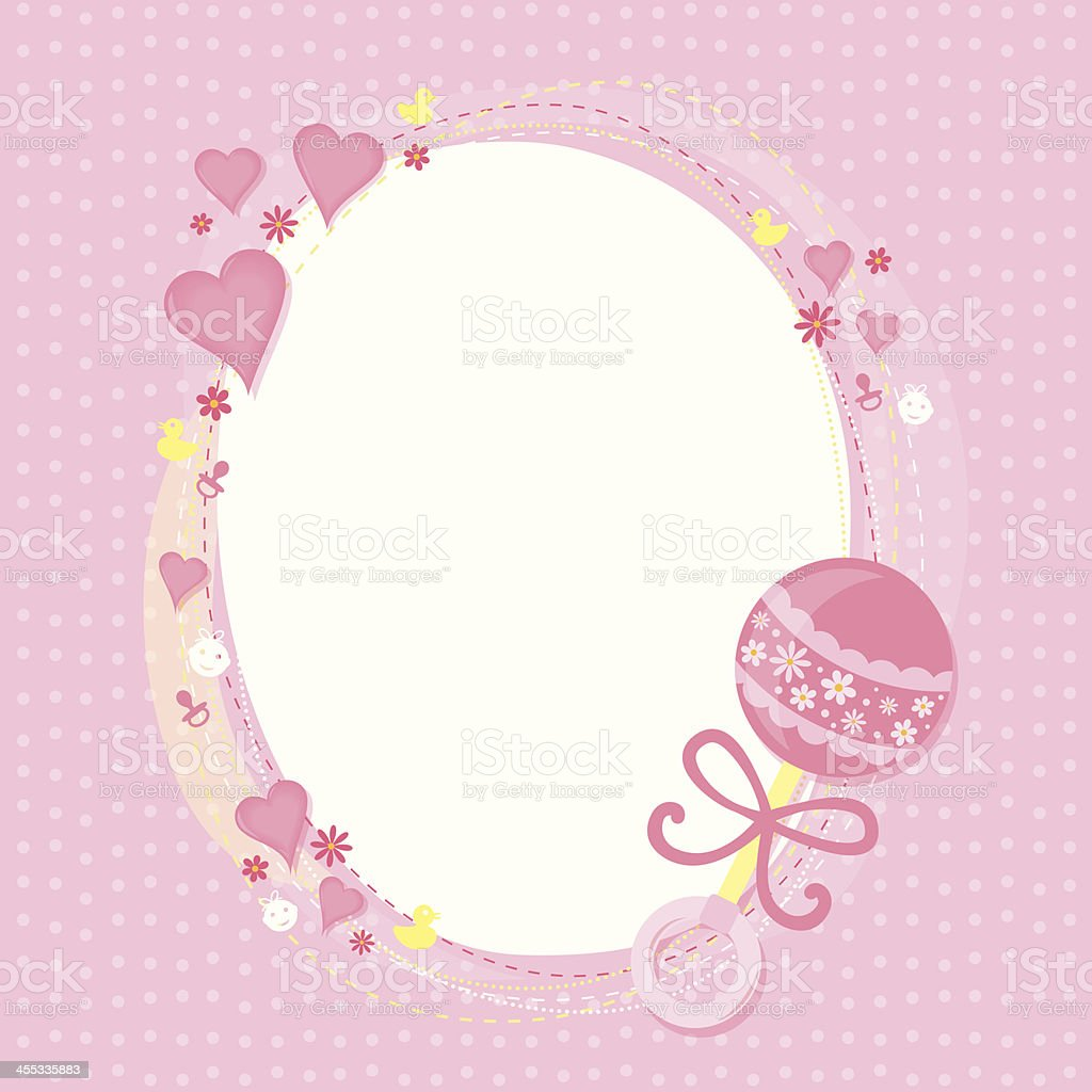 Baby Girl Greetings Stock Vector Art Amp More Images Of Baby