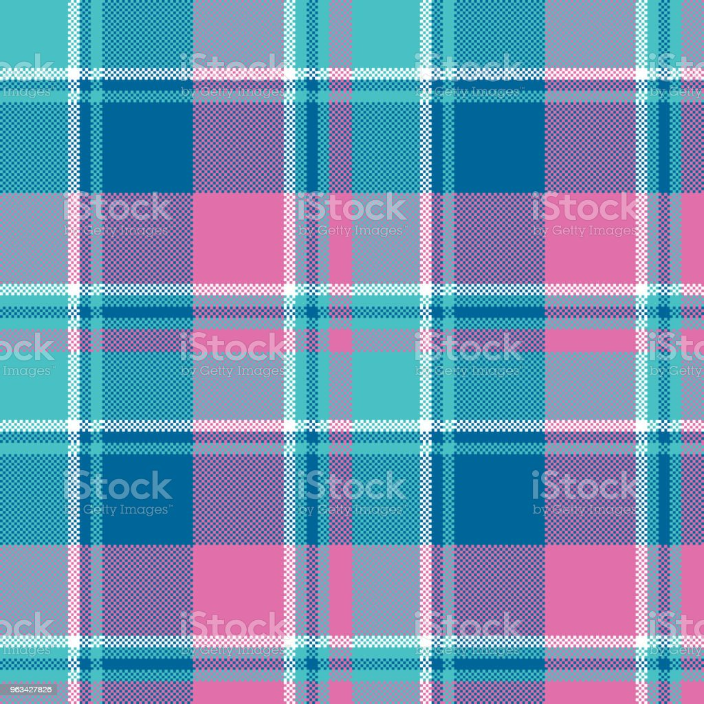 Baby girl pink pastel color plaid seamless pattern - Grafika wektorowa royalty-free (Abstrakcja)
