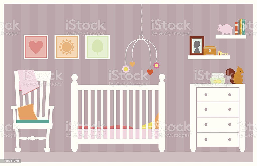 Baby Girl Room vector art illustration
