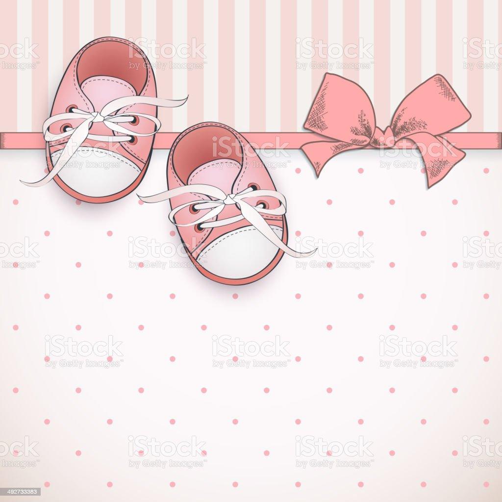 Baby Girl Shower Card Stock Vector Art 492733383 Istock