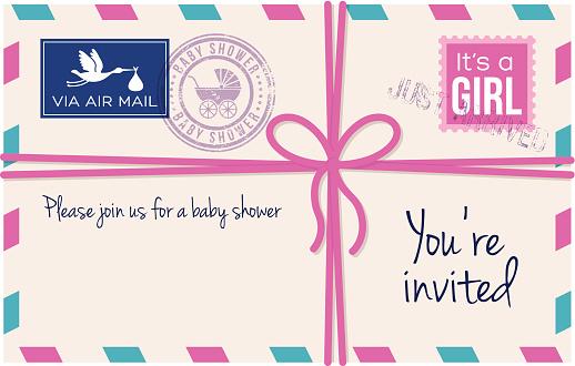 Baby girl shower invotation letter