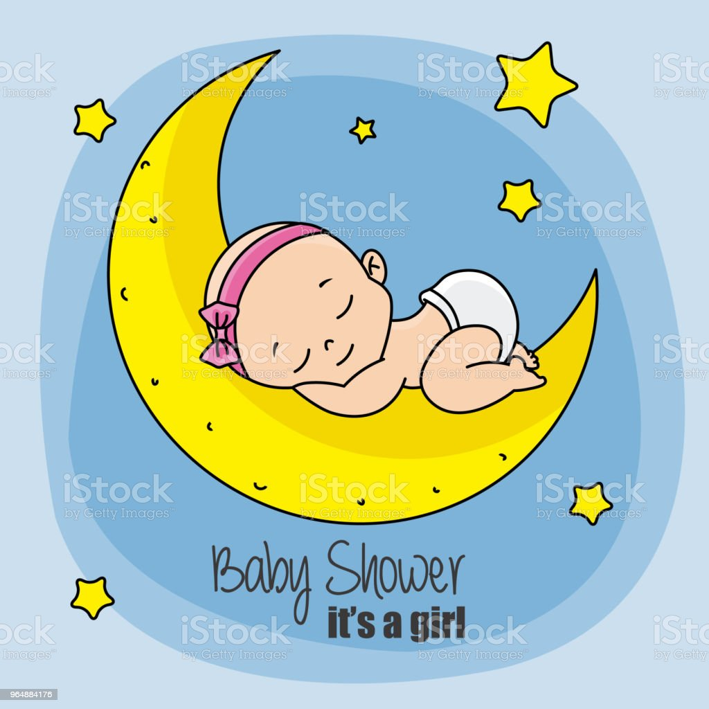 baby girl sleeping on top of the moon royalty-free baby girl sleeping on top of the moon stock vector art & more images of arrival